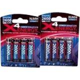 ANSMANN Energy AA / Mignon Nickel-Metall-Hydrid 2700 mAh 4er Pack