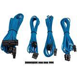 Corsair Premium Sleeved Kabel-Set - blau