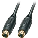 (€1,58*/1m) 5.00m Lindy S-VGA Anschlusskabel Mini-DIN 4pol Stecker auf Mini-DIN 4pol Stecker Schwarz geschirmt / Premium / vergoldet