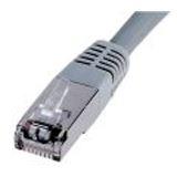 (€0,79*/1m) 10.00m Digitus Cat. 5e Patchkabel UTP RJ45 Stecker auf RJ45 Stecker Grau Knickschutzelement