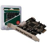 Digitus USB 2.0, 4+1 Port, PCIe