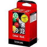 Lexmark Druckkopf mit Tinte 32+33 80D2951 farbig