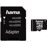 4 GB Hama Mobile microSDHC Class 4 Retail inkl. Adapter