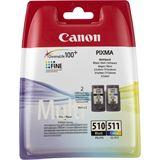 Canon Tinte CL-511 Multipack 2970B010 schwarz, cyan, magenta, gelb