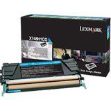 Lexmark Return Program Toner X748H1CG cyan