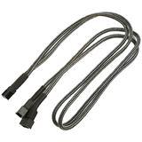 Nanoxia 60 cm carbon Y-Kabel für 3-Pin Molex (NX3PY60C)