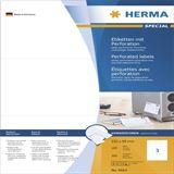 Herma 4664 perforiert Universal-Etiketten 21x9.9 cm (100 Blatt (300 Etiketten))