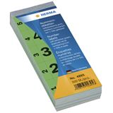 Herma 4895 selbstklebend gruen Nummernblock-Etiketten 2.8x5.6 cm (500 Stück (1-500))