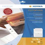 Herma Fotosichthüllen 130 x 180 mm quer weiß 10 Hüllen