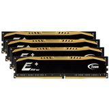 16GB TeamGroup Elite Plus schwarz DDR4-2133 DIMM CL15 Quad Kit