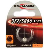 ANSMANN SR66 Silberoxid Knopfzellen Batterie 1.5 V 1er Pack