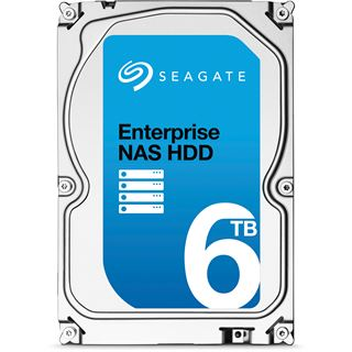"6000GB Seagate Enterprise NAS HDD +Rescue ST6000VN0011 128MB 3.5"" (8.9cm) SATA 6Gb/s"