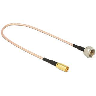 (€31,60*/1m) 0.25m Delock WLAN Antennenkabel F Stecker auf SMB Buchse Transparent