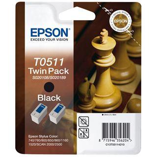 Epson C13T051142 schwarz 2x 24ml Kit