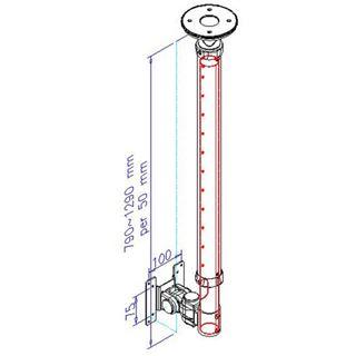 Deckenhalterung NewStar Höhe 68-108cm