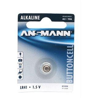 ANSMANN Knopfzelle LR41 Alkaline 1.5 V 1er Pack