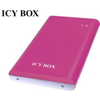 """2.5"""" (6,35cm) Icy Box IB-221StU-P SATA USB 2.0 Pink"""