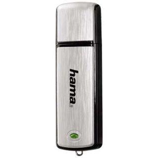 "8 GB Hama FlashPen ""Fancy"" schwarz/silber USB 2.0"