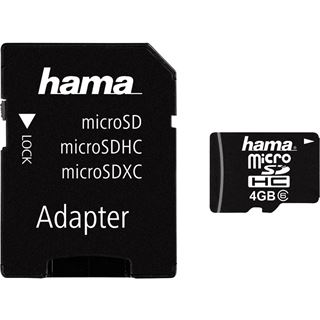 4 GB Hama High Speed Foto microSDHC Class 6 Retail inkl. Adapter