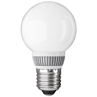 Globelampe E27, Mattglas, mit LED Cluster, warmweiß, 200 lm, 3,3W, 230V, 2800K