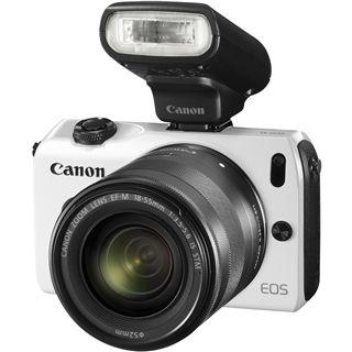 Canon EOS M Kit inklusive EF-M 18-55 mm f/3.5-5.6 IS STM + Speedlite 90EX weiß