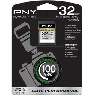 32 GB PNY Elite SDHC Class 10 Retail