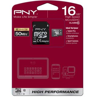 16 GB PNY CFast Flash microSDHC Class 10 Retail inkl. Adapter auf SD
