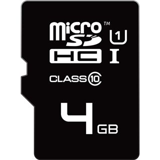 4 GB EMTEC microSDHC Class 10 Retail inkl. Adapter