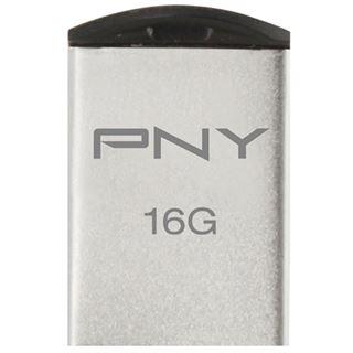 16 GB PNY Micro M2 Attache silber USB 2.0