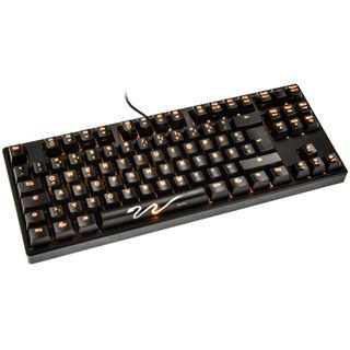 Ducky Shine 3 Slim orange LED MX Brown CHERRY MX Brown USB Deutsch schwarz (kabelgebunden)