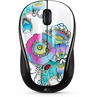 Logitech M325 Lady on the Lily USB schwarz mit Muster (kabellos)