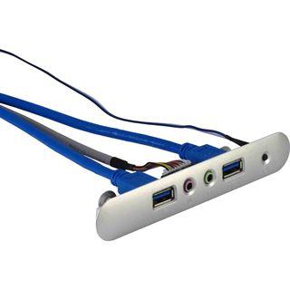 Inter-Tech AC USB/Audio Einsatz für ITX Q-5 USB 3.0 silber