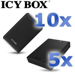 10x Powerbank Zusatzakku für mobile Geräte + 5x 2,5