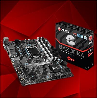 MSI B250M BAZOOKA Intel B250 So.1151 Dual Channel DDR4 mATX Retail