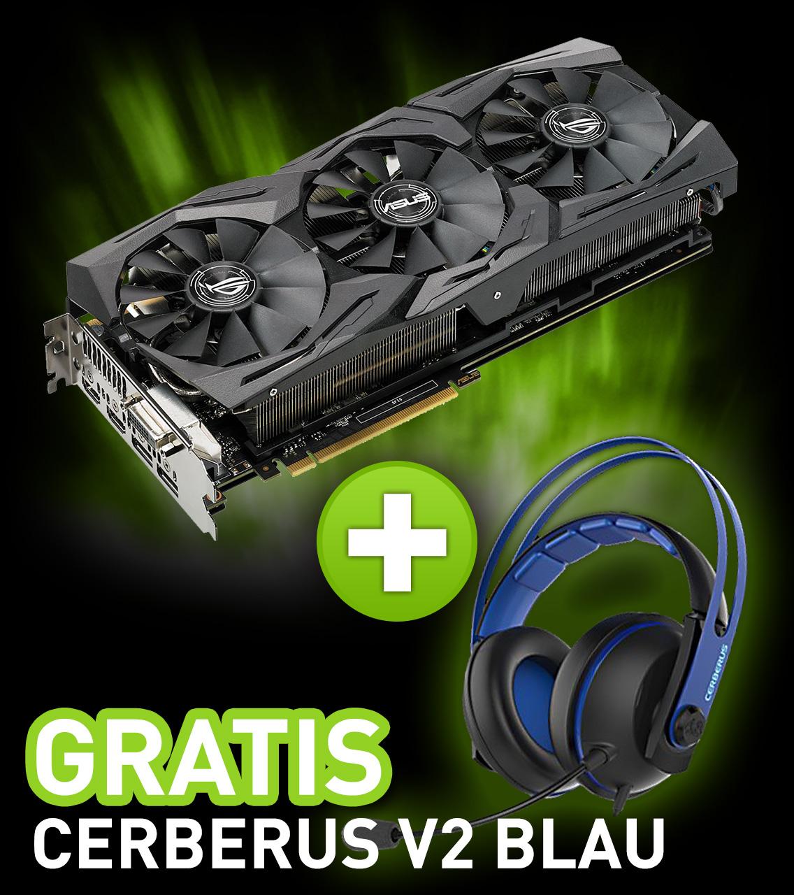 11GB Asus GeForce GTX 1080 Ti ROG Strix Gaming Aktiv PCIe 3.0 x16 (Retail)